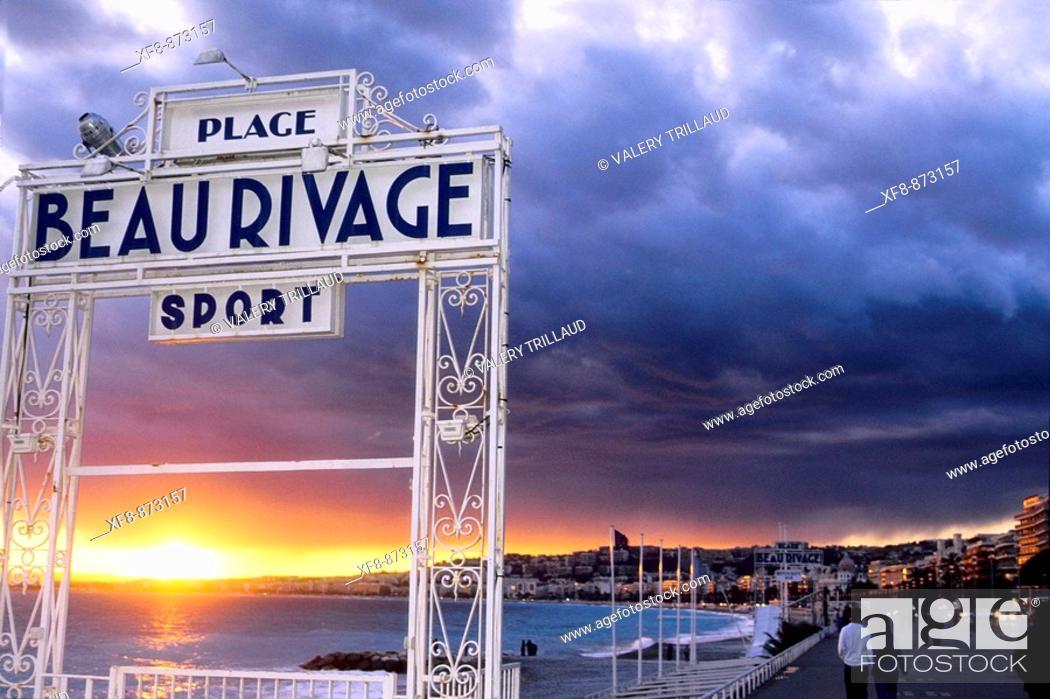 Stock Photo: NIce Promenade des Anglais ALpes-MAritimes 06 PACA French Riviera Cote d'Azur France Europe.
