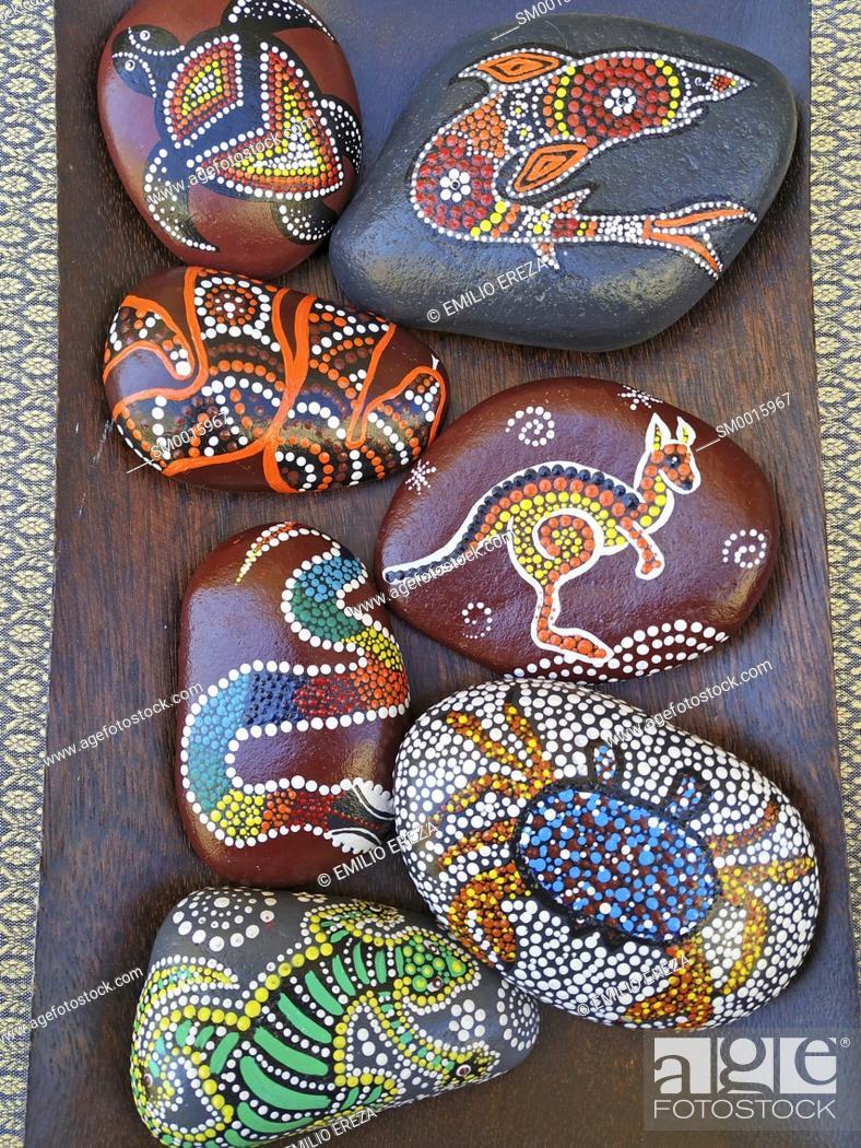 Stock Photo: Decorative stones for sale.
