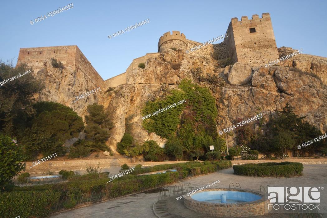 Photo de stock: Castle of Salobreña, X Century, province of Granada, Andalucia, Spain.