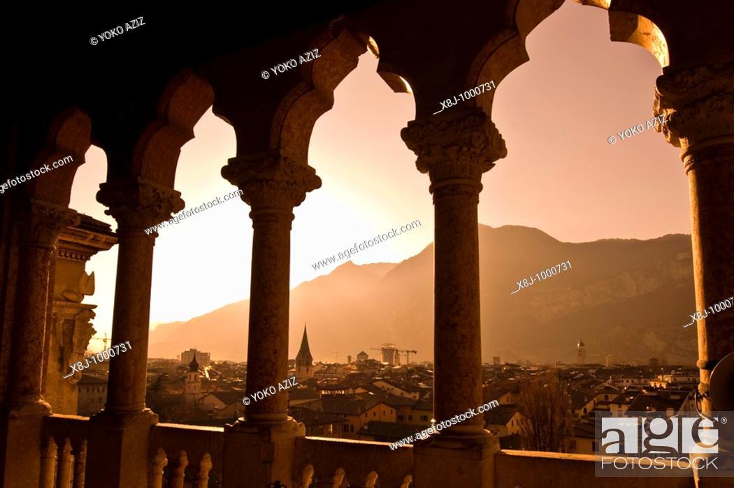 Stock Photo: View from, Bonconsiglio castle, Trento, Italy.