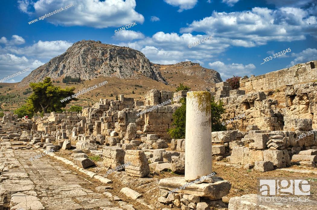 Stock Photo: ancient Corinthe, Peleponesis, Greece.