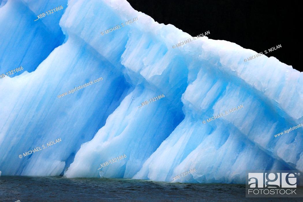 Stock Photo: Calved iceberg from the Le Conte Glacier just outside Petersburg, southeast Alaska, USA  Le Conte Glacier is the southernmost tidewater glacier in North America.