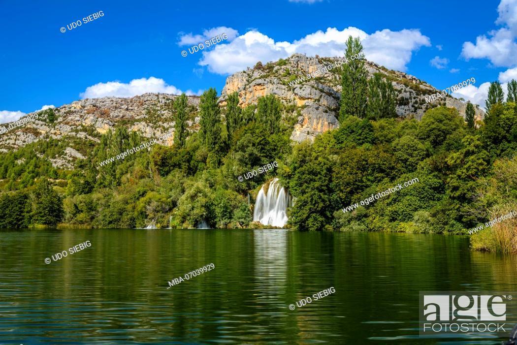 Stock Photo: Croatia, Dalmatia, region of Sibenik, Krka National Park, Roski Slap, Visovac lake, waterfall.