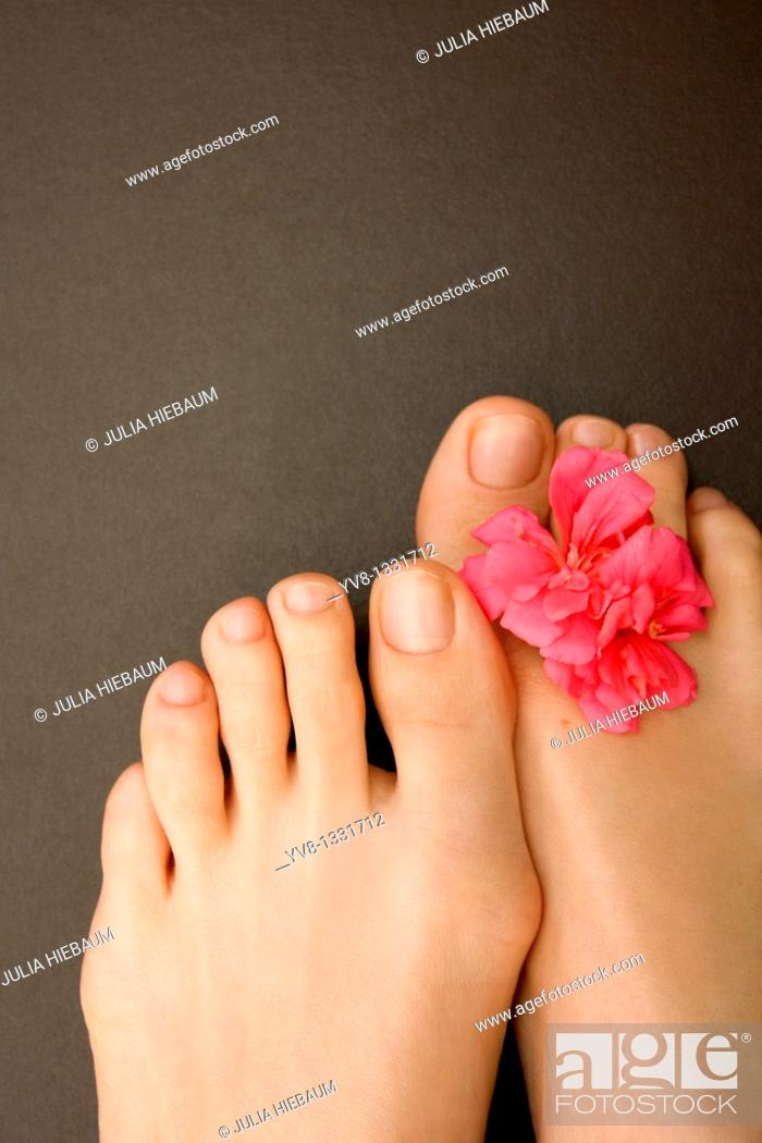 Stock Photo: Close-up of woman's feet.