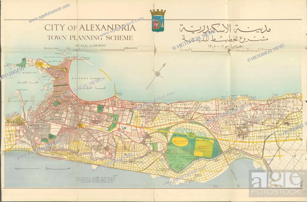 Picture of: City Of Alexandria Town Planning Scheme Map 3 Alexandria Egypt Author Mclean Stock Photo Picture And Rights Managed Image Pic Mpn 200430 Agefotostock