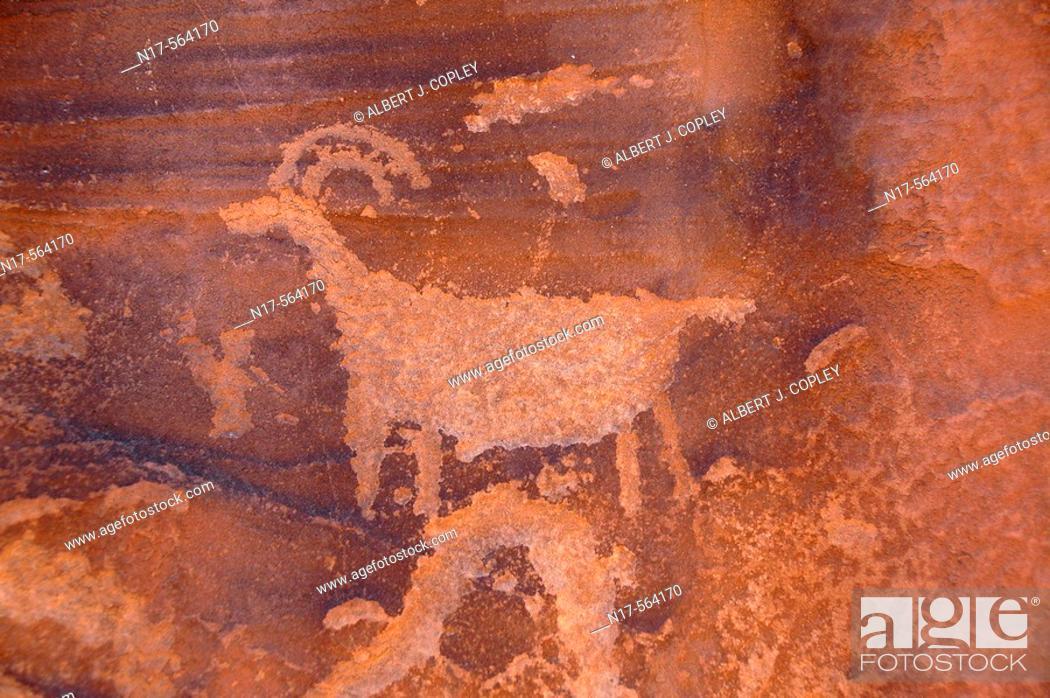 Stock Photo: Petroglyph.
