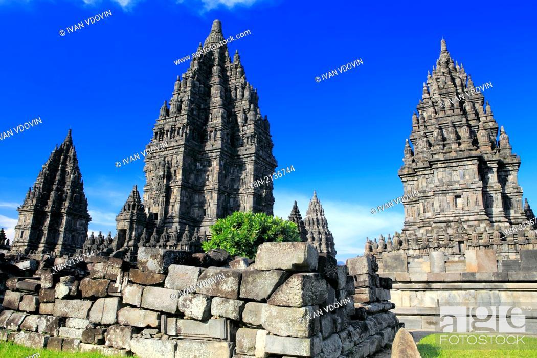 Stock Photo: Roro Jonggrang, Hindu temple (9th century), Prambanan, near Yogyakarta, Java, Indonesia.