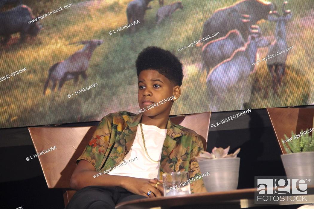 """Stock Photo: JD McCrary 07/10/2019 """"""""The Lion King"""""""" Press Conference held at the Montage Beverly Hills Luxury Hotel in Beverly Hills, CA. Photo by I."""