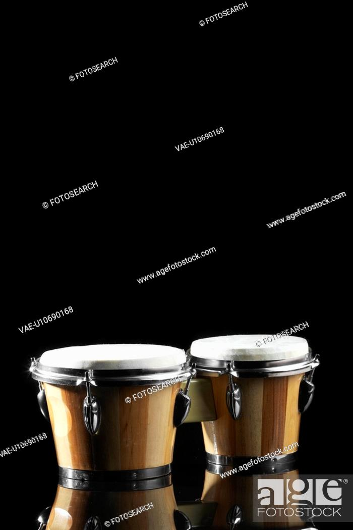 Stock Photo: Bongo drums.