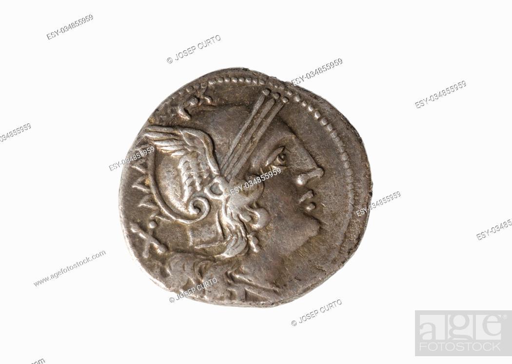 Photo de stock: Roman silver denarius.