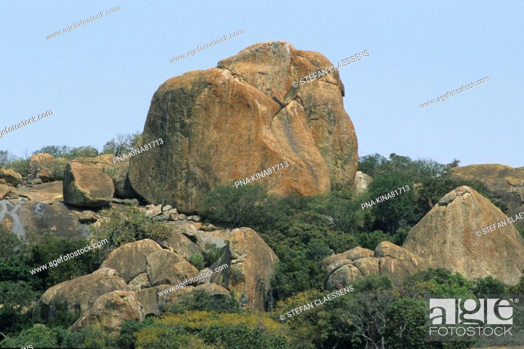 Stock Photo: Matopos national park, Matobo Hills, Bulawayo, Zimbabwe, Africa.