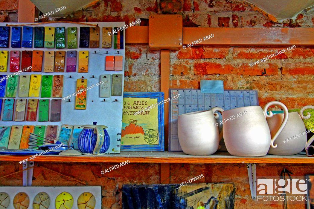 Stock Photo: Ceramic workshop, Barcelona, Catalonia, Spain.