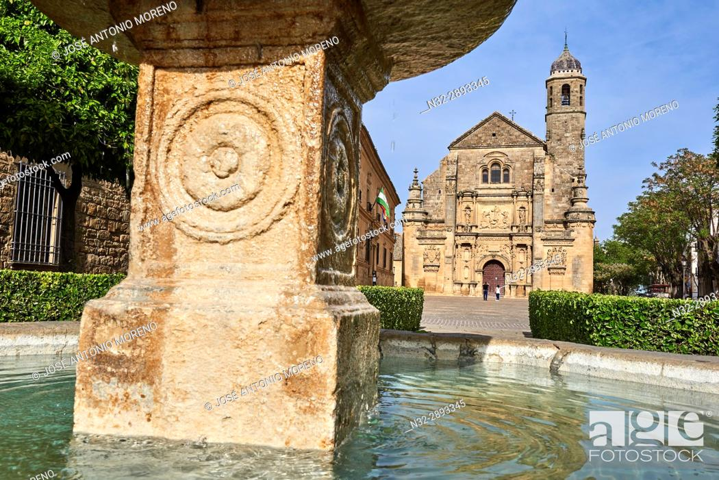 Stock Photo: Church of the Salvador, Vazquez de Molina Square, Úbeda, UNESCO World Heritage Site, Jaén province, Andalusia. Spain.