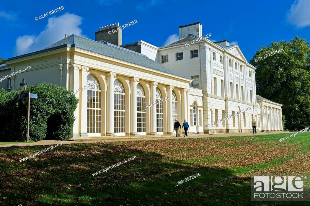 Stock Photo: Kenwood House, neoclassical stately home, Hampstead Heath, London, England, United Kingdom, Europe.