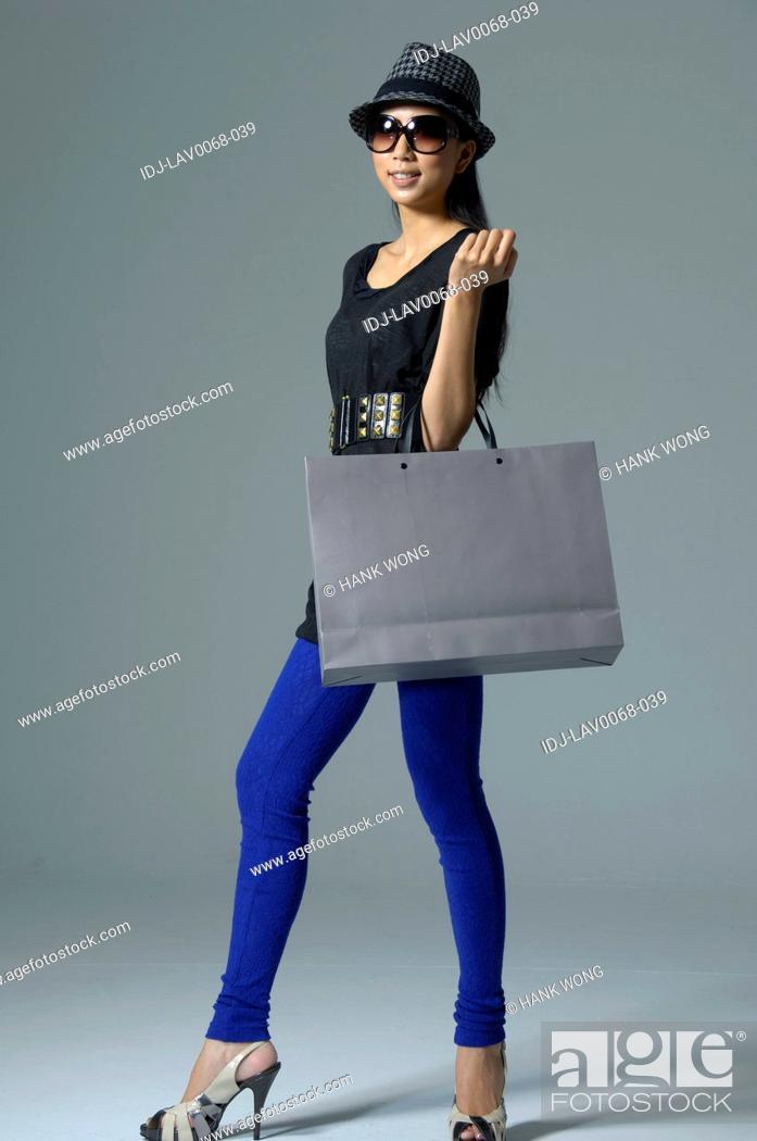 Stock Photo: Portrait of a fashion model posing.