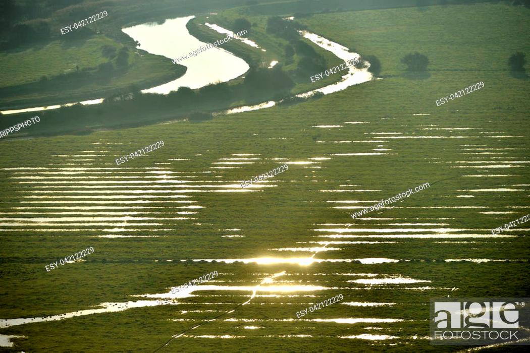 Stock Photo: Cuckmere valley in the South Downs National Park on a winter morning.