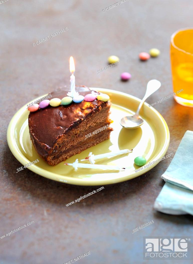 Sensational Nutella Birthday Cake Stock Photo Picture And Rights Managed Birthday Cards Printable Riciscafe Filternl