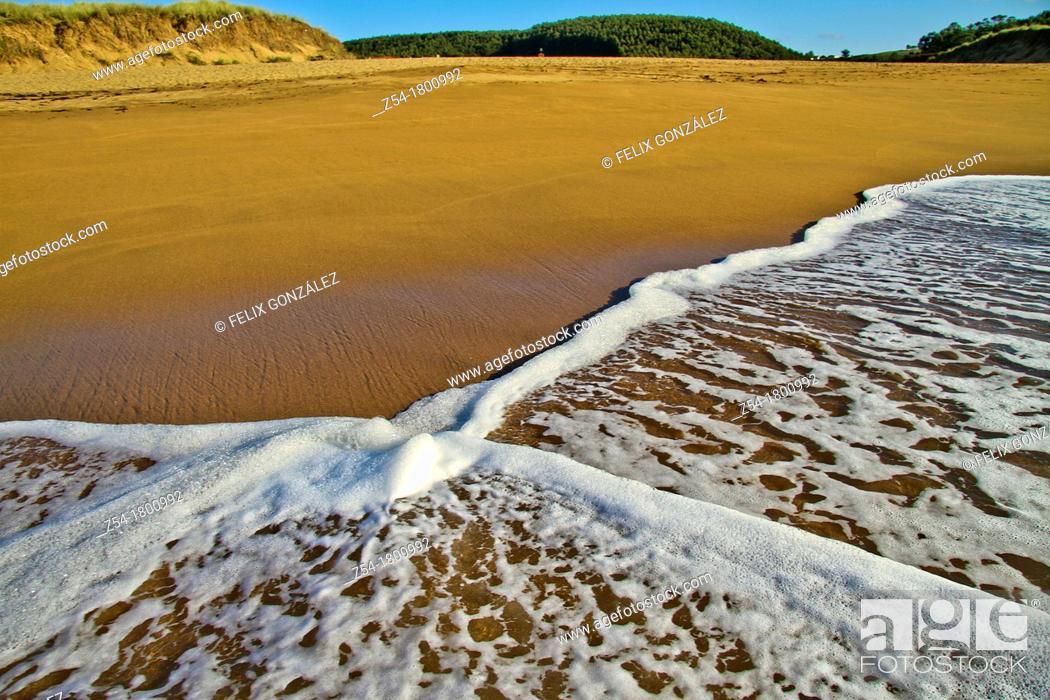 Stock Photo: Verdicio beach, Asturias, Spain.