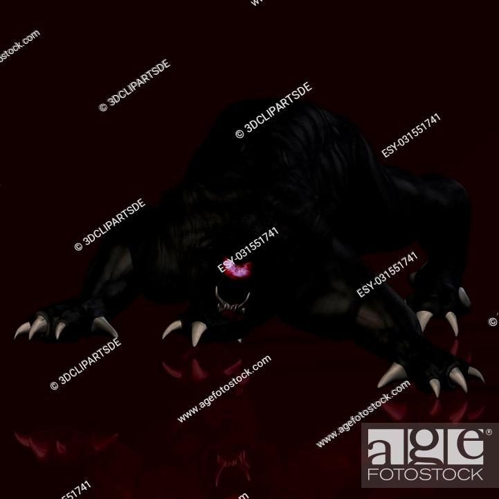 Imagen: Scary creature crawling towards youWith Clipping Path / Cutting Path.