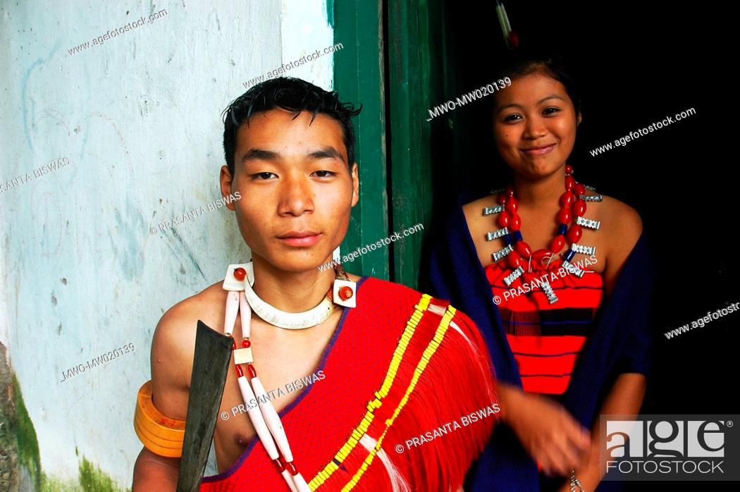 Students of the Naga Cultural School, in Mokokchung