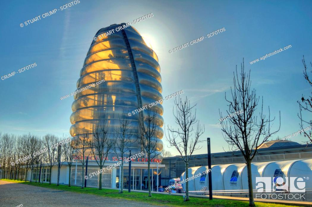 Stock Photo: HDR of Britain's National Space Centre, Leicester, England, UK.
