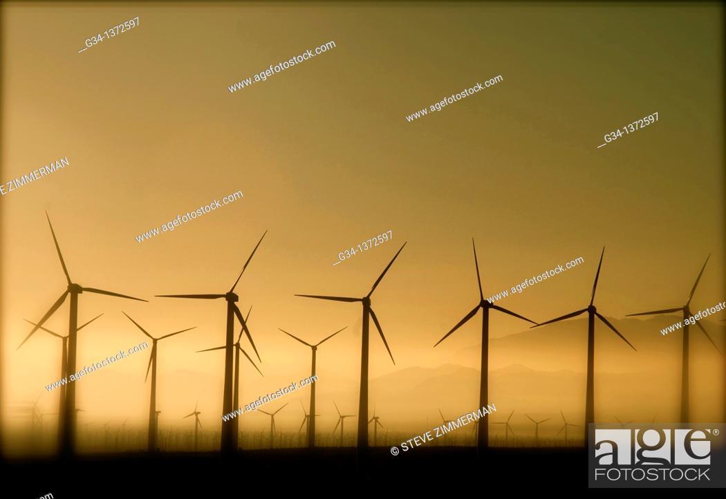 Stock Photo: California Power Dawn.
