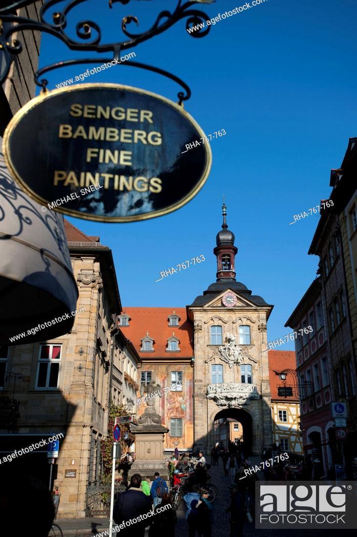 Stock Photo: Altes Rathaus, Bamberg, Bavaria, Germany, Europe.
