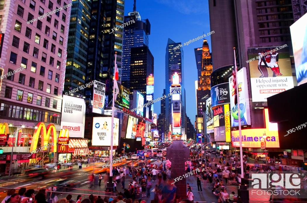 Stock Photo: Times Square, New York City.