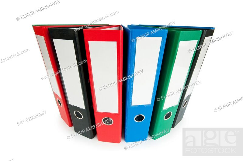 Imagen: Office folders isolated on the white background.