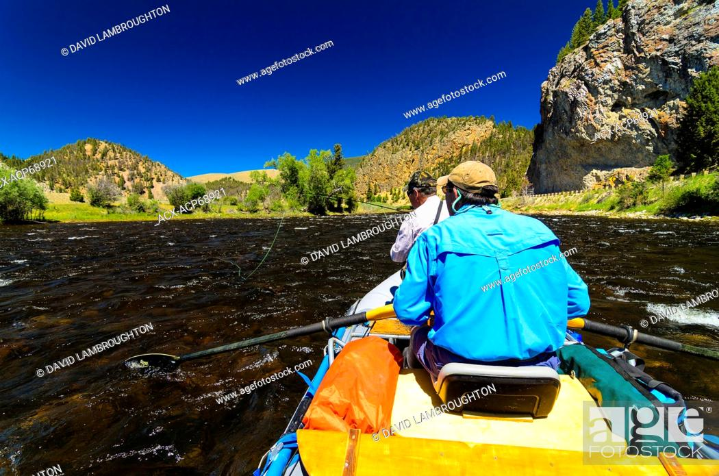 Big Hole River Montana Trout Fishing Stock Photo Picture And