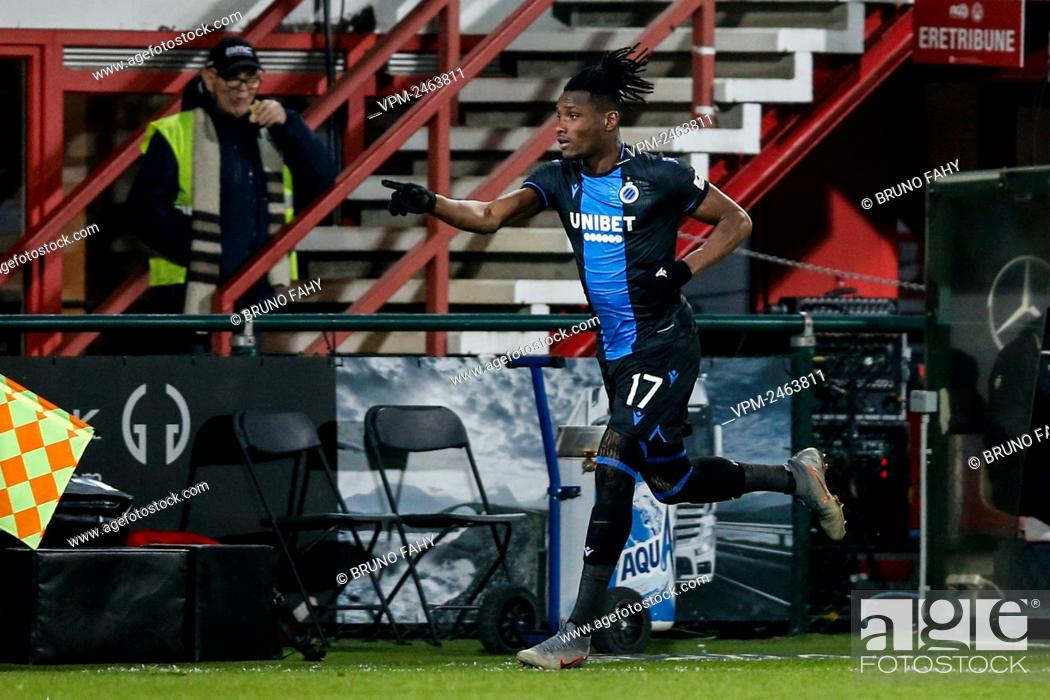 Club s Simon Deli Celebrates After Scoring During A Soccer Match Between KV Kortrijk And Club Brugge Stock Photo Picture And Rights Managed Image Pic VPM Agefotostock