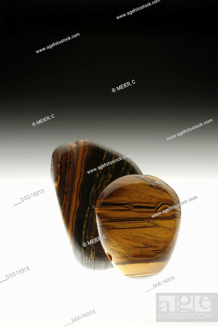 Imagen: Two tiger irons - haematite jasper tiger eye rock, it helps to overcome difficulties, helps with Exhaustion, blood formation and oxygen transportation support.