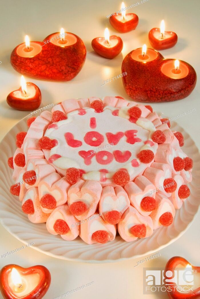 Stock Photo: Cake, I love you,.