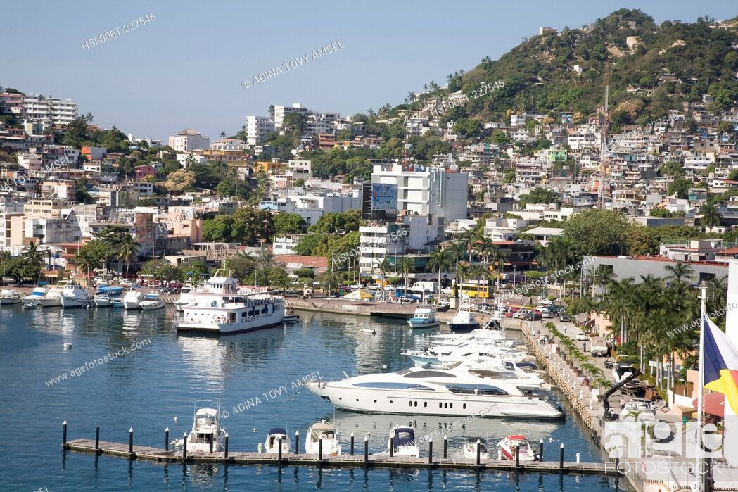 Stock Photo: View of Acapulco harbour. Mexico.