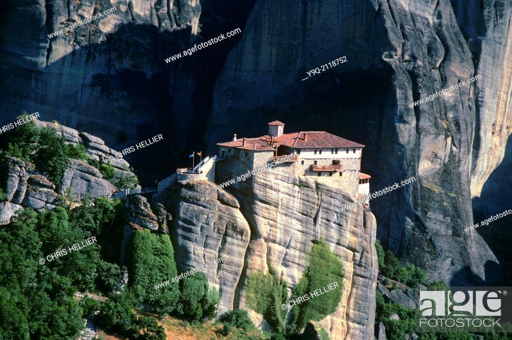 Stock Photo: Holy Monastery of Roussanou (founded 1388) Meteora Greece.