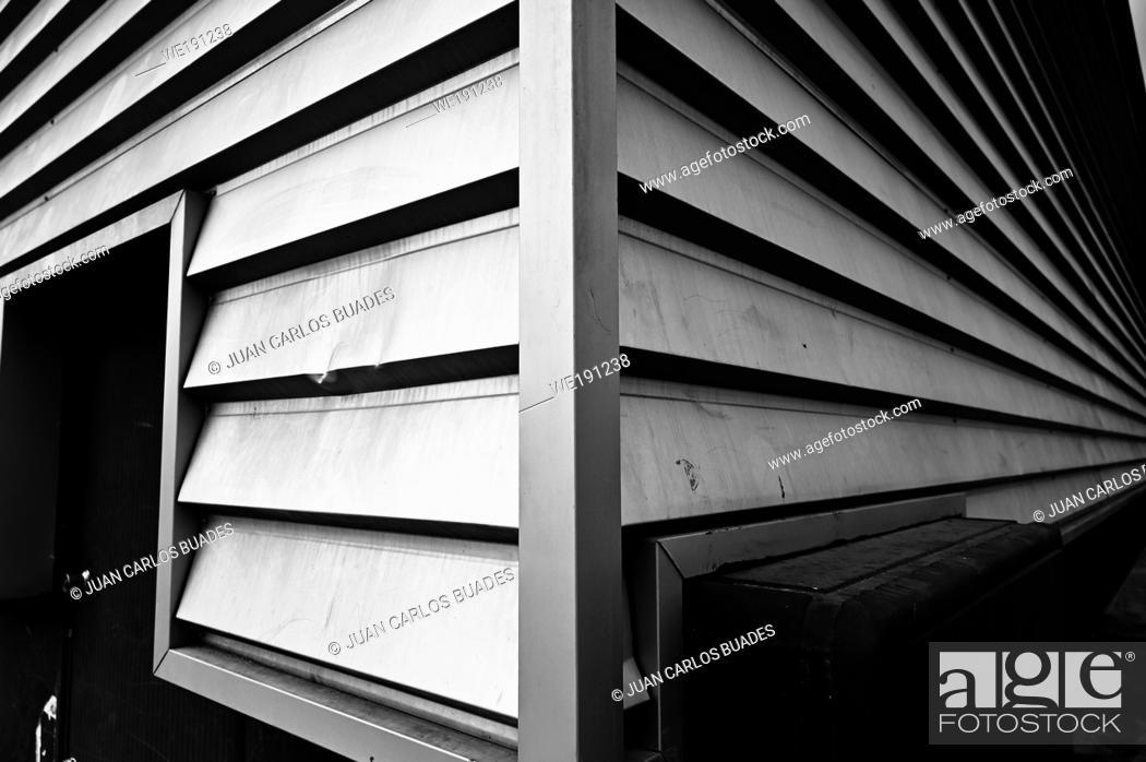 Photo de stock: Black and white architecture.