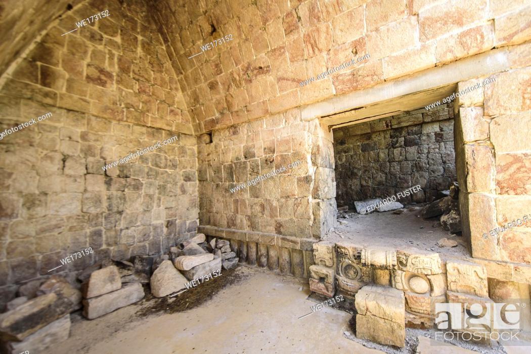 Stock Photo: Interiors of the ruins at Kabah, Yucatan Peninsula, Mexico.