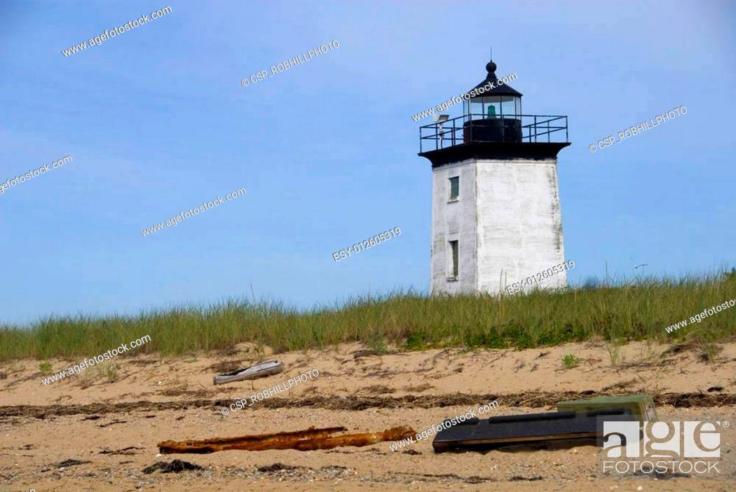 Stock Photo: Long Point Lighthouse.