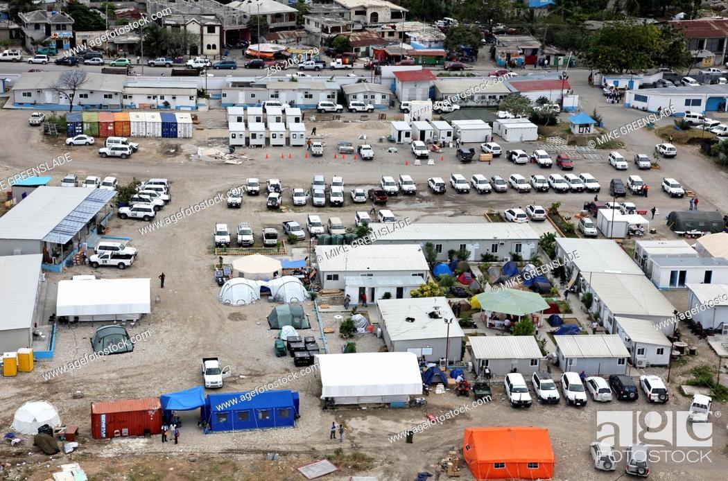Imagen: UN Logistics Base Port au Prince Haiti.