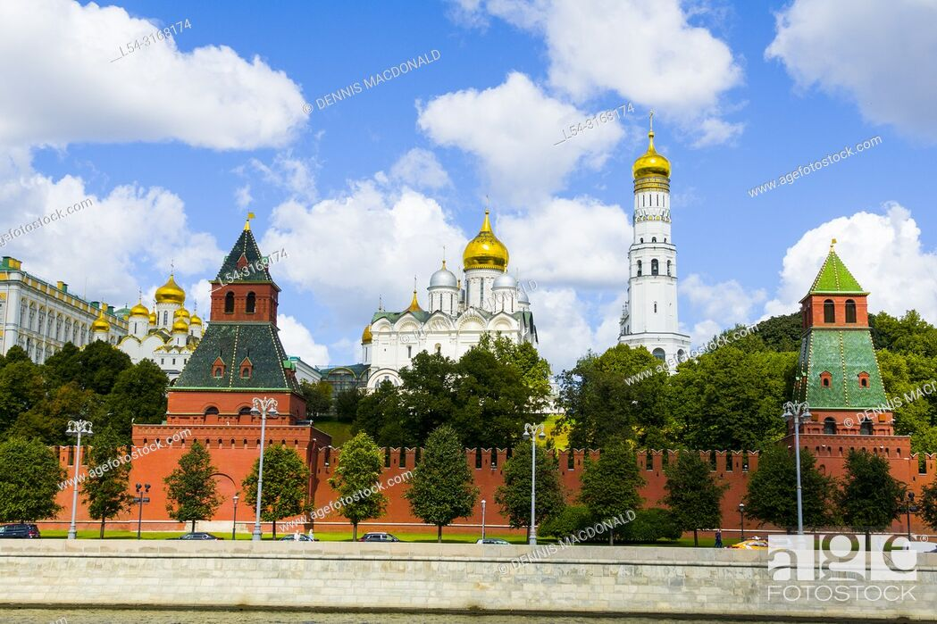 Stock Photo: Kremlin wall at Moscow Russian Moskva city National capital of Russia.