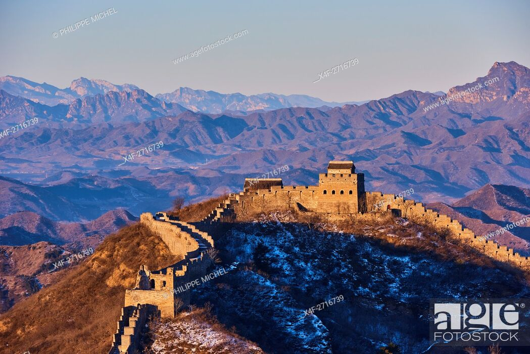 Stock Photo: China, Hebei province, Great Wall of China, Jinshanling and Simatai section, Unesco World Heritage.
