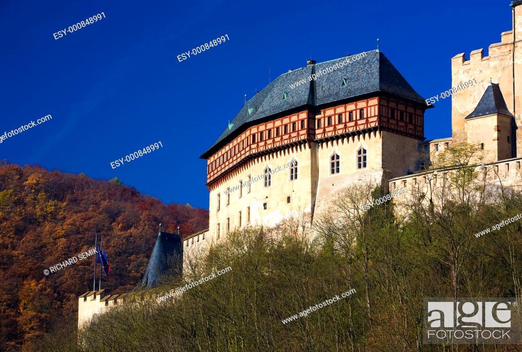Stock Photo: Karlstejn Castle, Czech Republic.