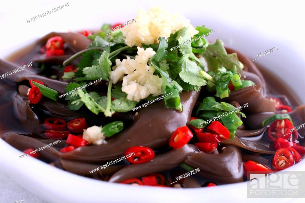 Stock Photo: Acid hot Fern Root Noodles.