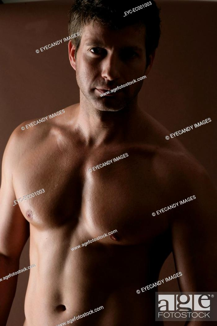 Stock Photo: Portrait of a strong man.