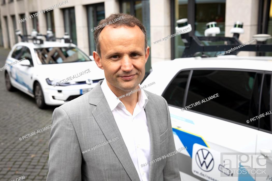 Stock Photo: 06 November 2019, Hamburg: After a press conference, Alexander Hitzinger, responsible for autonomous driving at Volkswagen.