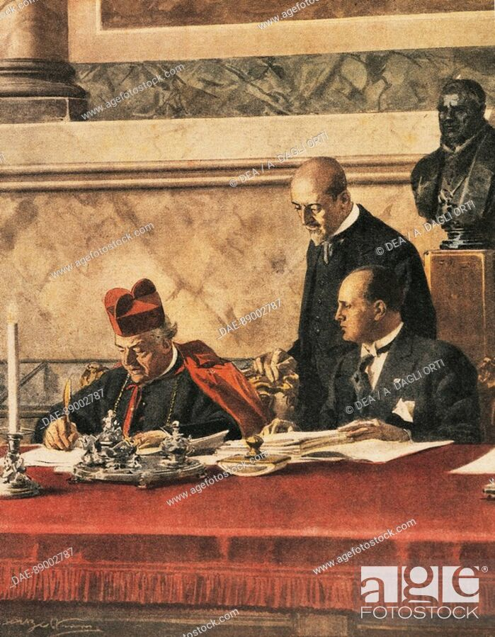 Signing Of The Lateran Treaty Between Cardinal P Gasparri And B