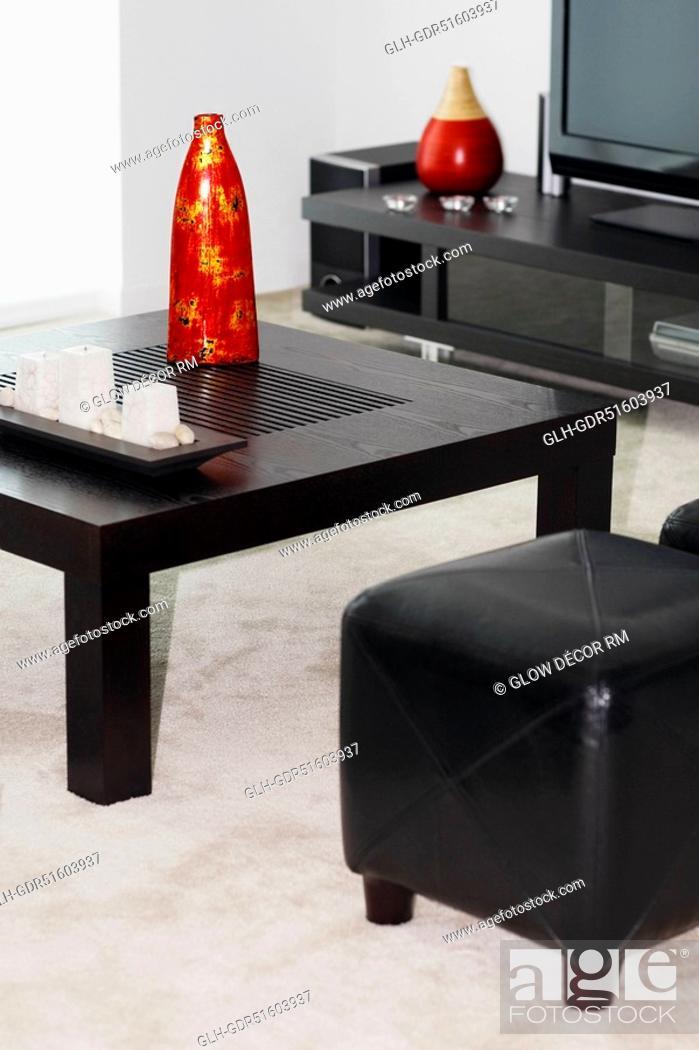 Photo de stock: Interiors of a living room.