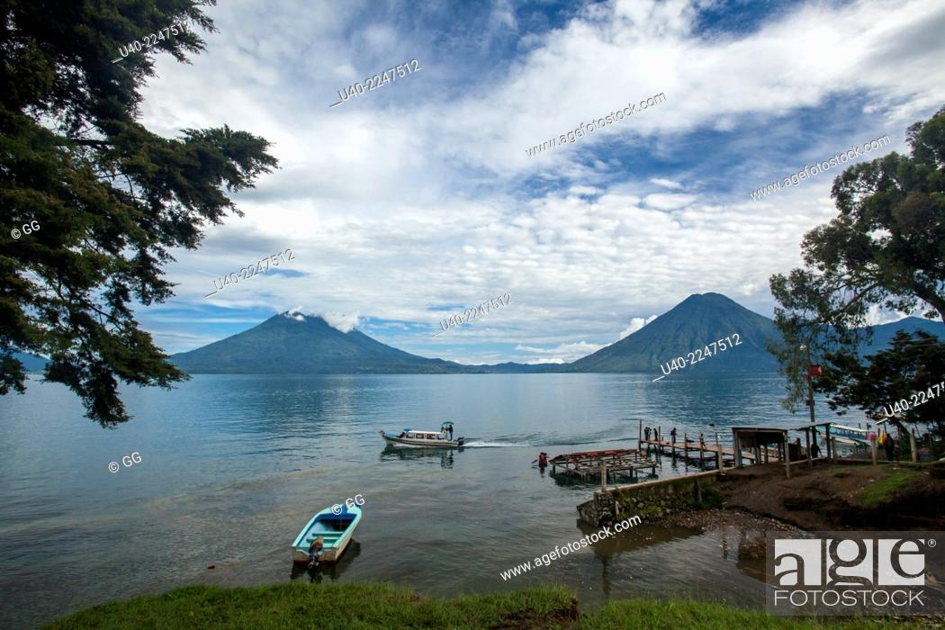 Stock Photo: Jaibalito, Lake Atitlan, Guatemala.