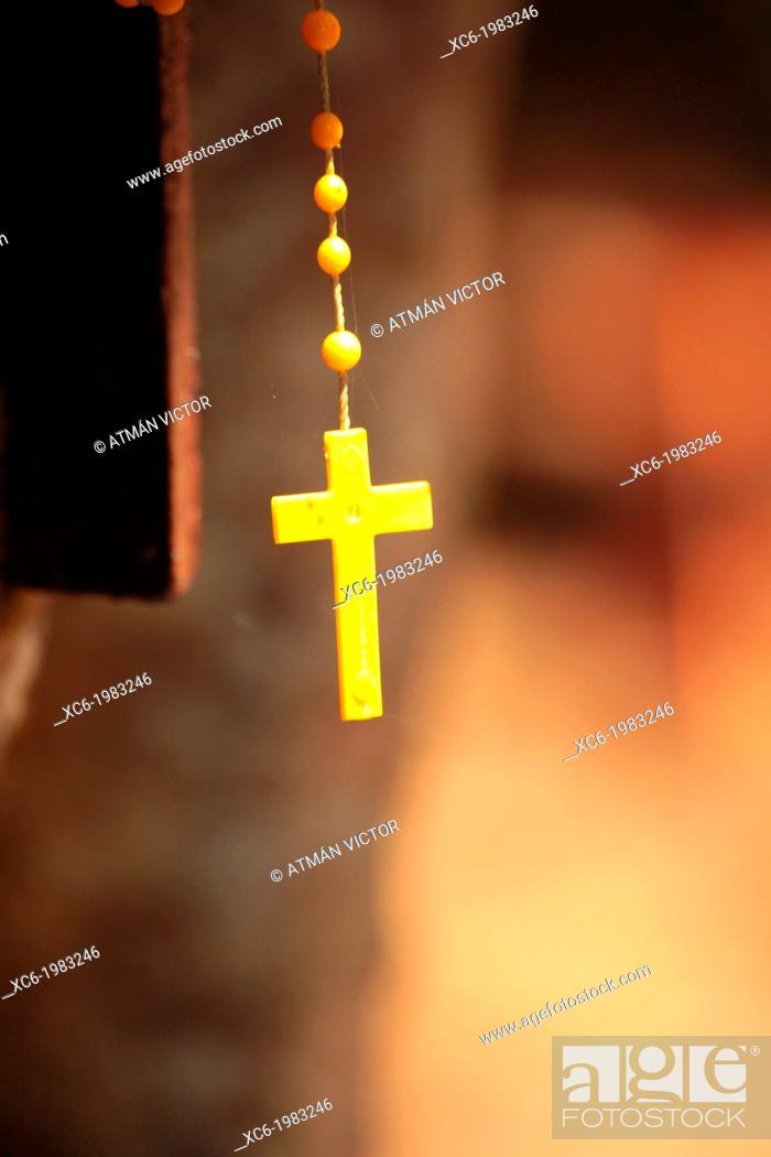 Stock Photo: Rosary beads.