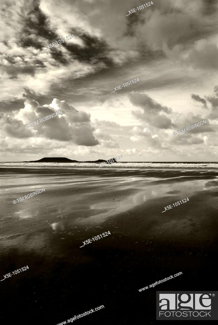 Stock Photo: Worms Head, Gower, Wales.